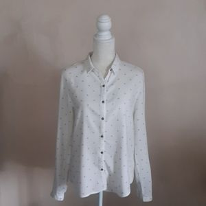 Love tree white patterned blouse